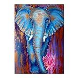 Oce180anYLV Diamond House significa Elephant S Diamond Painting, Elefante Fiore pieno di diamante pittura Unframed ricamo a punto croce fai da te decorazione M230