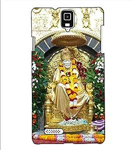 Fuson Designer Back Case Cover for Infocus M330 (Saibaba Pratishthan theme)