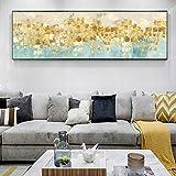 Wieoc Abstrakte Leinwandbilder Wandbilder Goldene Punkte Poster Und Kunstdrucke Moderne Wandbilder Graffiti Pop Art Für Wohnzimmer 30X90Cm