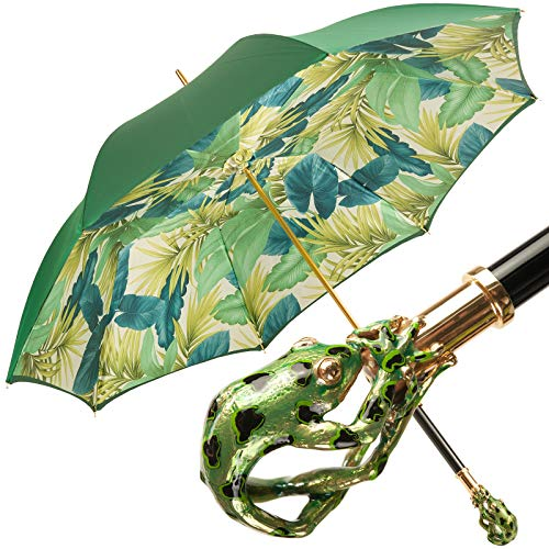 428c77e68 Bellezza Luxury Double Canopy Umbrella with Enamelled Frog Handle by Pasotti