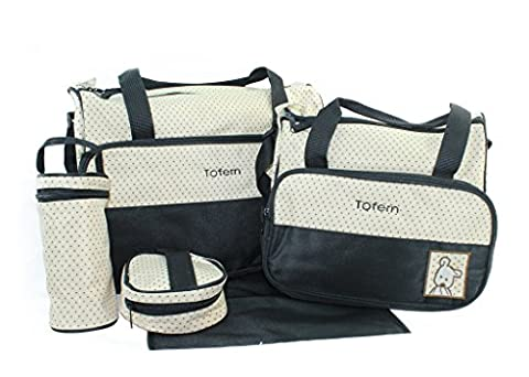 Tofern Lot Sac A Langer Confort Bebe 5 Pieces Cafe