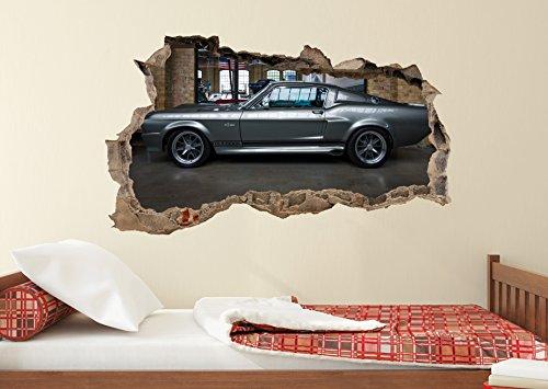 Preisvergleich Produktbild WL10 Auto Schlafzimmer Wohnzimmer Wandtattoo Aufkleber Loch in der Wand