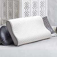 Bedsure Memory Foam Contour Pillow for Bed - Dust Mite Resistant, Hypoallergenic and Great for Neck, Ventilated Orthopedic Bed Pillow Standard Size with Washable Removable Cover