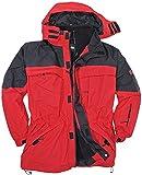 3in1 Jacke Davos in Übergröße bis 10XL rot, Größe:8XL