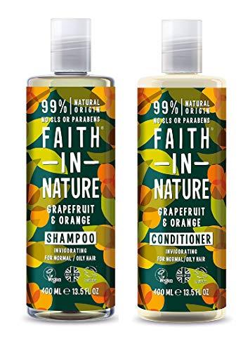 Grapefruit Duo (Faith In Nature Grapefruit & Orange Shampoo 400ml & Conditioner 400ml Duo)