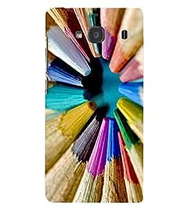 Printvisa Premium Back Cover Multicolour Pencil Pattern Design for Xiaomi Redmi 2S::Xiaomi Redmi 2::Xiaomi Redmi 2 Prime