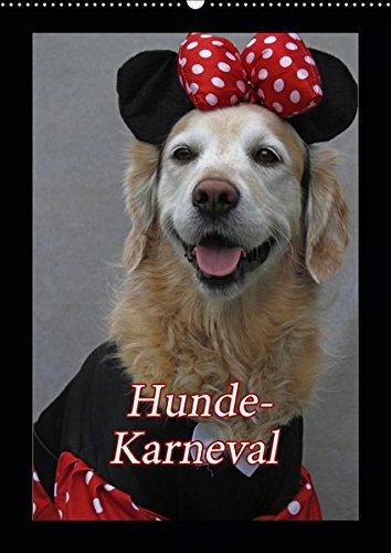 Hunde-Karneval (Wandkalender 2019 DIN A2 hoch): Zwei Hunde feiern Karneval (Monatskalender, 14 Seiten ) (CALVENDO - Comic Hunde Kostüm