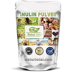 Inulin Ballaststoff Pulver - hergestellt in Uk - Inulin hochgein prebiotisches Ballaststoff Pulver hergestellt in EU aus natürlichen Chicorée Wurzeln (250)
