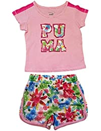 Puma niña de dos piezas camisa y pantalones cortos Set