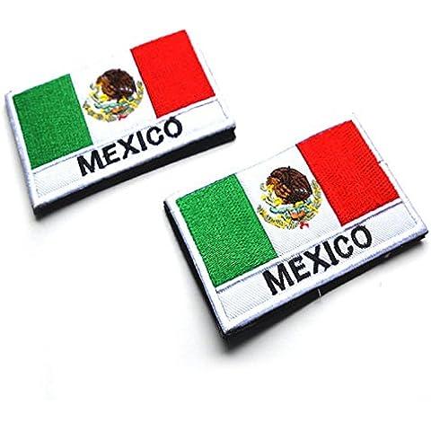 Nuevo 3d bordado palillo capítulo, México México Bandera de tela brazalete Pegatinas