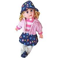 JABA'S® Cute Looking Musical Rhyming Babydoll,Big Stroller Dolls, Laughing and Singing Soft Push Stuffed Talking Doll…