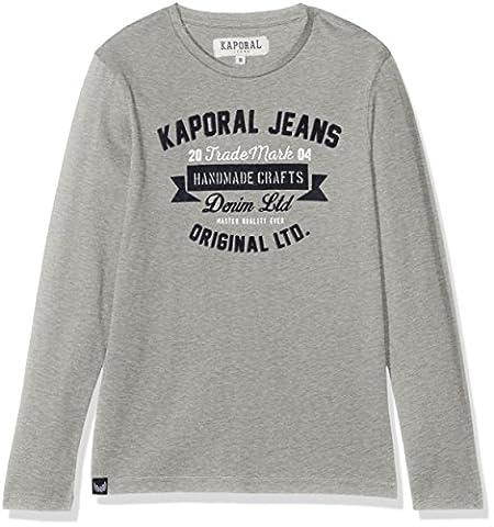 Kaporal Negor, T-Shirt Garçon, Gris (Grey Melanged), 16 Ans (Taille Fabricant: 16A)