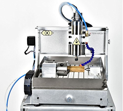 TEN-HIGH 6090 2200W CNC Router Engraving Drilling Milling Machine,usb port with 4th axis and sink device.