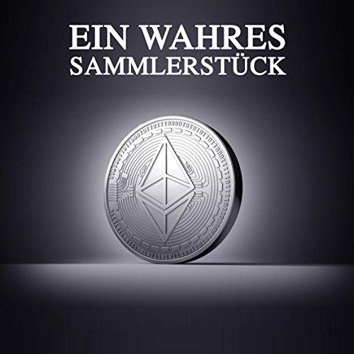 Physische Ethereum Münze als Schlüsselanhänger mit echtem Silber überzogen. Wahres Sammlerstück mit Schlüsselring. Ein Muss für jeden Bitcoin-Fan + GRATIS E-Book gegen Cyber-Attacken - 3