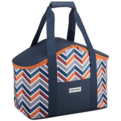 anndora Kühltasche 20 L dunkelblau orange Isoliertasche Einkaufstasche Thermotasche Picknick