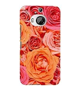 PrintVisa Rose Flower Roses 3D Hard Polycarbonate Designer Back Case Cover for HTC One M9 Plus :: HTC One M9+ :: HTC One M9+ Supreme Camera