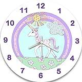 I Believe In Mädchen Einhörner Uhr, Wanduhr, Kinder Uhren, Silent Uhr, sagen, die Zeit Uhr, Mädchen Raum Uhr