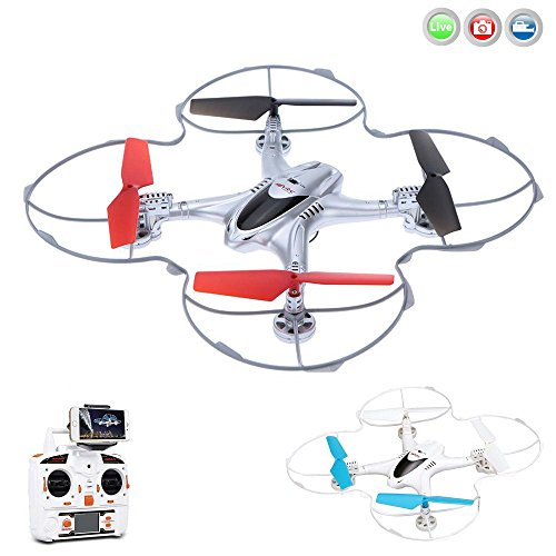 MJX X300C Drohne mit Kamera 360° Round Edged Schutz Quadrocopter Kopflos Modus Wifi FPV RC Drone für iOS & Android