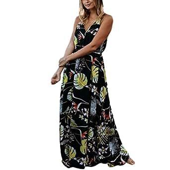 54ba018c84d2 ... Sunward Women s Printed Long Dress Strap Floral Print Flowy Party Maxi  Dress