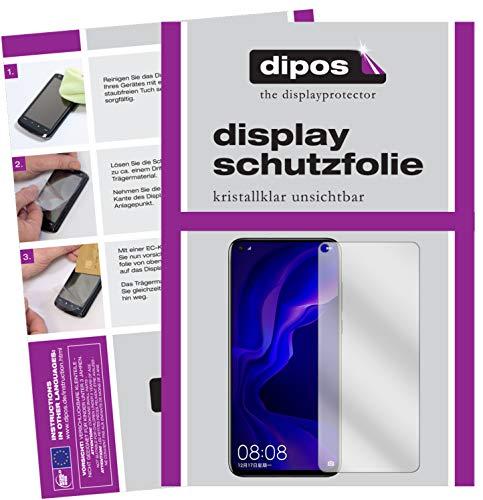 dipos I 6X Schutzfolie klar passend für Huawei Nova 4 Folie Bildschirmschutzfolie (bewusst Kleiner als das Glas, da Dieses gewölbt ist)