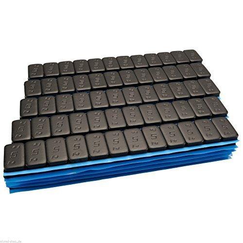 100-NERO-Premium-Pesi-equilibratura-12x5g-Pesi-adesivi-6KG-Striscia-adesiva-Catena