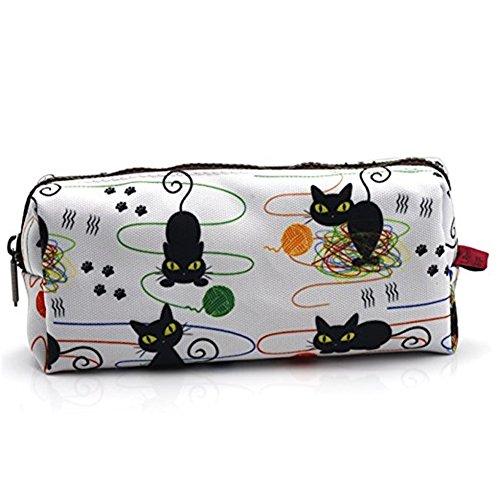 Federmäppchen, Kosmetiktasche, Motiv: Katzen und Wollknäuel, ideal als Geschenk für jeden Katzenliebhaber