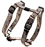 Rogz SJ523-J Lapz Trendy verstellbares Hundegeschirr, M, braun