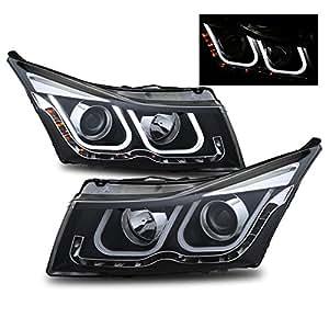 sppc schwarz projektor scheinwerfer bar stil f r chevy cruze beifahrer und fahrerseite amazon. Black Bedroom Furniture Sets. Home Design Ideas