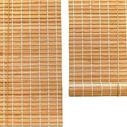 Persianas enrollables Bambú - 90% Filtrado de la luz - Levantar Ventanas/Puertas - Color carbonizado (Color : Wave, Tamaño : 50×100cm)