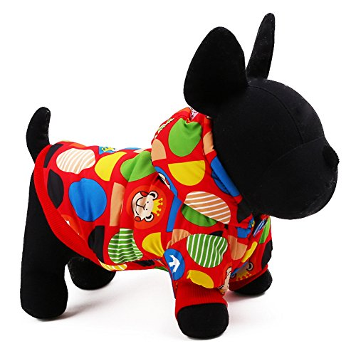 Five Season Chien Animal Fashion Capuche/Costume/Veste/Manteau/Vetement Dessin Ours , Rouge, M