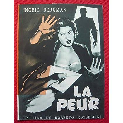 Dossier de presse de La peur (1954) – déplié (59x 47cm) – Film de Roberto Rossellini avec Ingrid Bergman, Mathias Wieman – Photos N&B - résumé du scénario