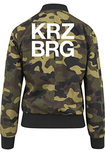 Kreuzberg Bomberjacke Girls Camouflage Certified Freak-S