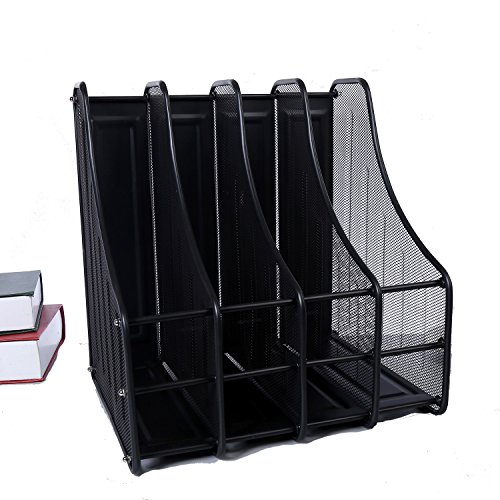 ASL Büro Bürobedarf Metal File Regal Vierte Gear Bücherregal Dateien Rack Sammlung Rack File Box Regal Qualität (Farbe : Schwarz) -