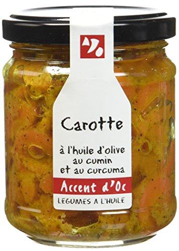 Accent d'Oc Carotte à l'Huile d'Olive au Cumin et au Curcuma 180 g - Lot de 2
