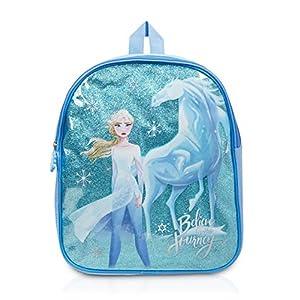 51vdLPpCGqL. SS300  - Disney Frozen 2 Mochila Infantil De Elsa para Niñas Azul Brillante El Reino del Hielo Cole Preescolar o Guardería, Mochilas Disney Escolares Juveniles, Regalos para Niñas