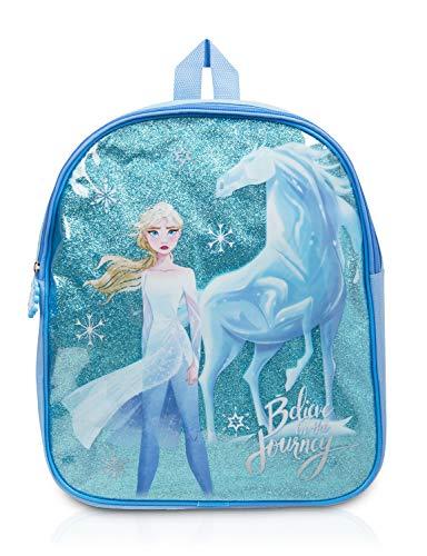 Sambro DFR2-8976 - Rucksack Disney Frozen II mit Glitzer und Elsa Motiv, ca. 32 x 26 x 9 cm