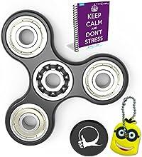 Primer molestar Spinner ansiedad Con el bono de juguetes AttentionToy eBook incluido (Inglés) - Perfecto para agregar, ADHD, autismo alivia el estrés y la ansiedad y relajarse para niños y adultos