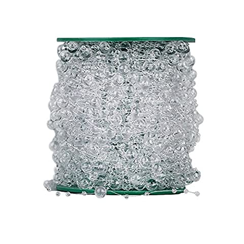 1rouleau DIY Craft Perles Chaîne Corde Ligne de pêche la création de bijoux–Guirlande Mariage Perles Filetage, transparent, 30M