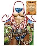 Erotische Geschenke Grillschürze Sexy Cowboy in Bestform mit Urkunde one size