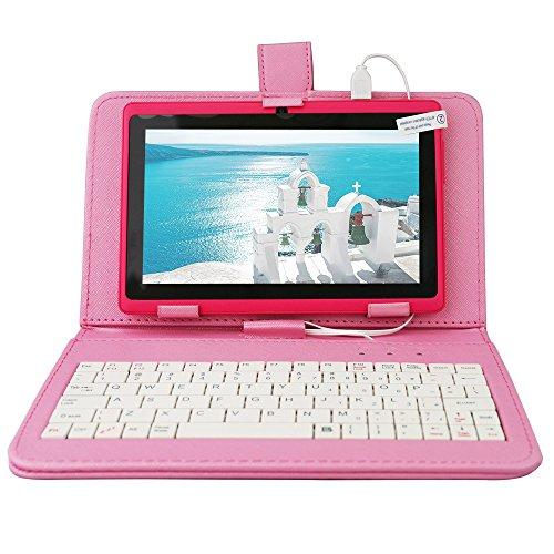Yuntab-Q88-Tablet-de-7-WiFi-Quad-Core-Android-442-KitKat-HD-1024x600-32-GB-8GB-ROM-Doble-Cmara-Bluetooth-21-con-teclado-y-protecdor-de-pellejo-Color-rosa