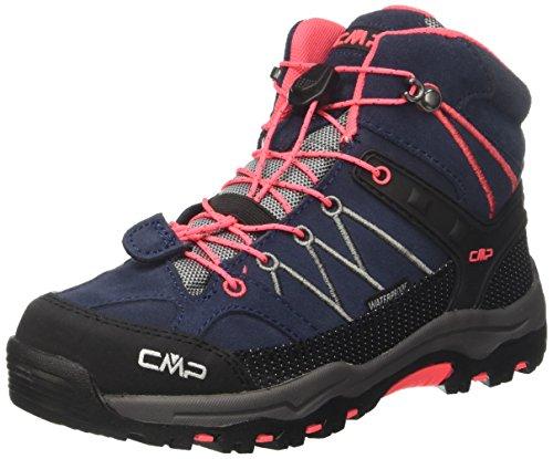 CMP Unisex-Erwachsene Rigel Mid Trekking-& Wanderstiefel, Grau (Antracite-Red Fluo 95bd), 38 EU