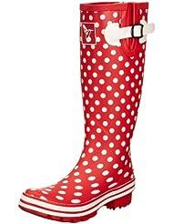Evercreatures Polka Dot Tall - Botas de agua, color rojo