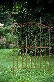 KUHEIGA Beetzaun Metall Steckzaun Rost Breite 90cm verlängerbar Metallzaun Zaunelement