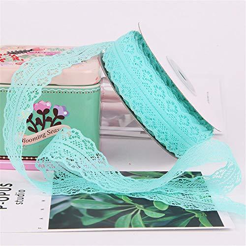 GLITZFAS 3CM X 22M Spitzenband Vintage, Geschenkband Spitze, tischdeko Hochzeit, Handwerk Bordüre, geschenkband bordüre für Geschenkverpackung Geburtstag (Tiffany-Blau)