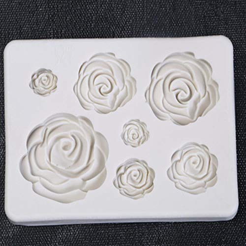 Loving bird sugarcraft Rose Flower Silicone Mold Fondant Mold Cake Decorating Tools Chocolate confeitaria Mold Baking Accessories h948,Rose h948 Nordic Ware Candy