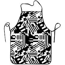 GAMSJM Delantales de Cocina Personalizados, diseño único, Borde de Bloqueo, Impermeable, Lavable