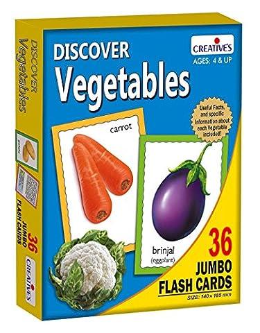 Creative's Découvrez légumes Conseil papier d'apprentissage Cartes Jumbo Flash pour les enfants