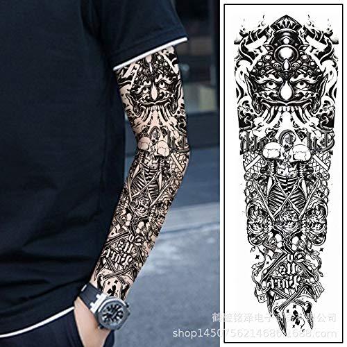 tzxdbh 3Pcs-Full Arm Tattoo Aufkleber wasserdicht Männer und Frauen Blume Arm Full Back 500 europäischen und amerikanischen Mustern Full Arm Nummer 16 -