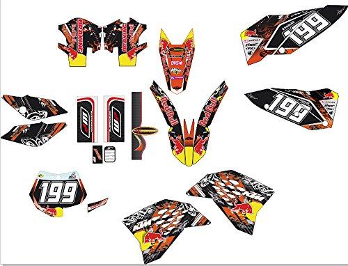 New KTM SXF 07 08 09 10 Bull MX Decal Sticker Kit (Non OEM)