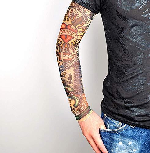 CHEN Outdoor - Sport - Tattoo - ärmel Blume ARM - Manschette armschutz MIT Sonnencreme - Tattoo aus Seide, Manschette